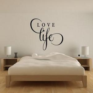 Love Life Inspirational Wall Sticker Love Quote Design Transfer Vinyl ...
