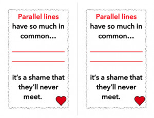 FREE Parallel Lines Poster Cards (for Valentine's Day or just for fun ...