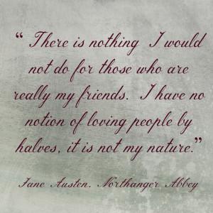 Jane Austen quote on friendship