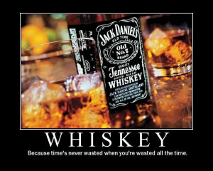 whiskey time is never wasted when you are wasted all the time