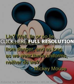 Mickey Mouse Funny Quotes and Sayings