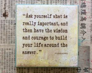 Quote Art/Coaster (4x4)