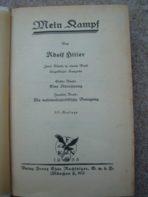 Mein Kampf: The Infamous Biographical Book Meaning of Mein Kampf