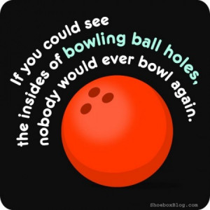 bowling ball holes