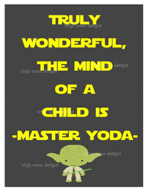 Yoda Quote Digital Print with Grey Background