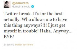 Read more at: Demi Lovato Takes a Break from Twitter