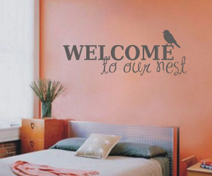 Welcome to our nest Family Stickers Wall Decal Furniture Cover Unique ...