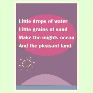 free printable nursery rhyme wall art: Little drops of water ...