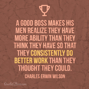 Quotes About Good Bosses