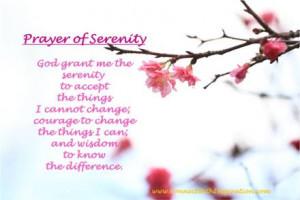 prayers prayer of serenity god grant me the serenity