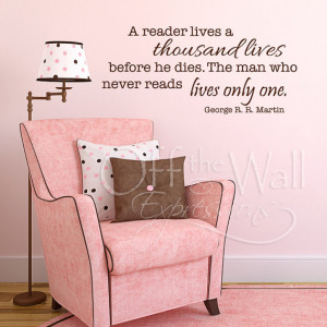 ... vinyl wall lettering - literary quote decal, library decor, teacher
