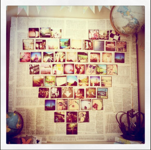monday makeoveR>>>decorating with instagram photos