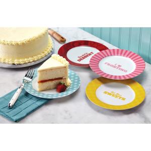 Cake Boss 4-Piece Dessert Plate Set,
