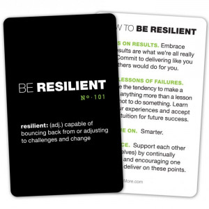 Resilient Quotes Be resilient pocket cards (10