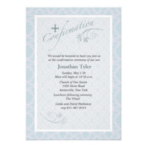 Chantilly Religious Confirmation Invitation from Zazzle.com