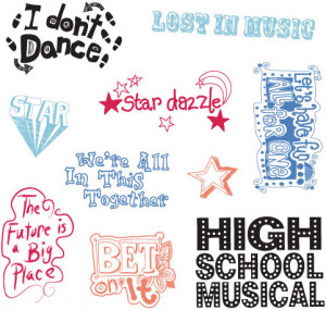 ... Stamps in Case - High School Musical/Catch Phrases - Click to enlarge