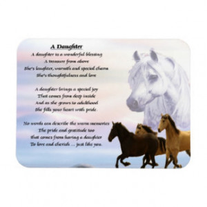 horses_design_daughter_poem_magnet_premium_magnet ...