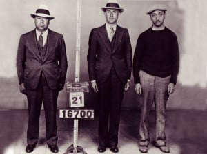 ... Hymie Pincus (Harry Klein) and Joseph Aaron in a police lineup photo