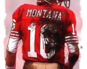 New Joe Montana San Francisco 49ers MVP Art Print ...