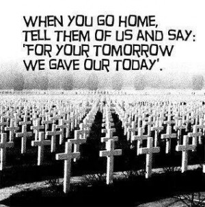 Thanks for your sacrifice.