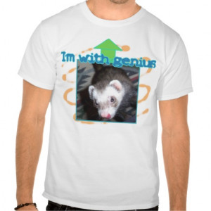 Cute Ferret Pictures Sayings and Quotes T-shirt