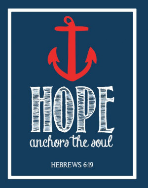 Hope Anchors The Soul - Bible Verse Wall Art on Etsy, $6.50
