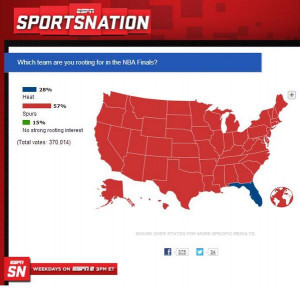 When it comes to picking the Heat or the Spurs, the United States is a ...