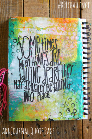 Art Journal Challenge Quote Page