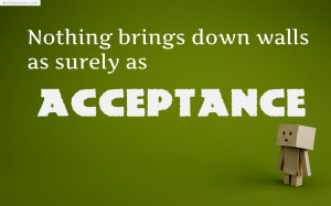 Acceptance Quote The Day Funny