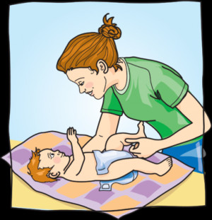 Changing Diapers Clip Art