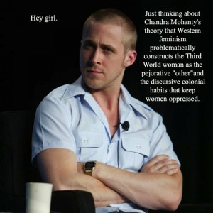 Today I was having a chat with my friends about Ryan Gosling...