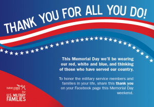 Thank a Military Family this Memorial Day Weekend