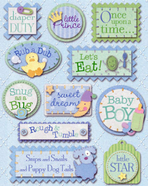 Baby Stickers For Scrapbooks