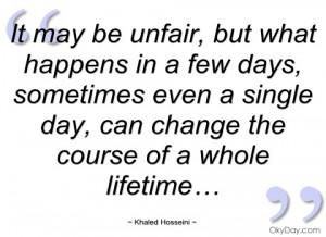 it may be unfair khaled hosseini