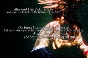 apollojames:Underwater kisses, despite their difficulty to execute ...
