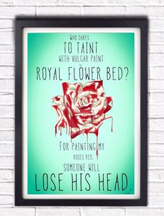 Alice in Wonderland Painted Rose Queen of Hearts by ...