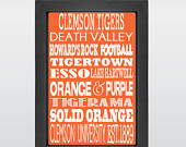 Clemson TIgers, Clemson University, Tigers, Clemson Football, Clemson ...