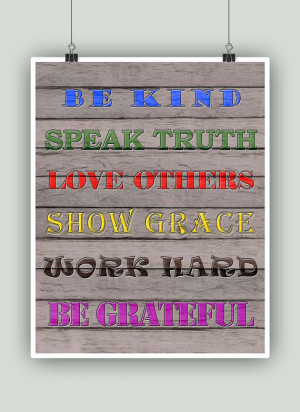 quotes wall decor. House Rules print. Family Rules Poster. Family ...