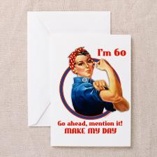 Rosie Riveter 60th Birthday Greeting Card for