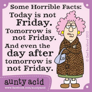 Aunty Acid is a new Facebook meme, the author working out of Australia ...