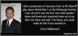 More Tom Hiddleston Quotes