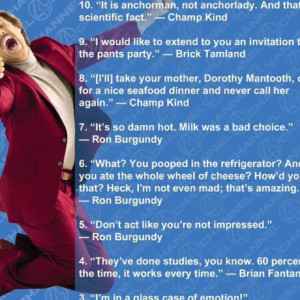 Rooooonnnnn Burgundy quotes!!