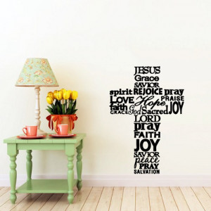 Christian Quotes For Bedroom Walls Wall Sticker Decal Quote Vinyl Art ...