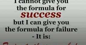 can not give you the formula for success...