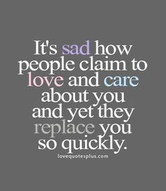 This always happens to me.. It's no wonder I don't trust anyone and am ...