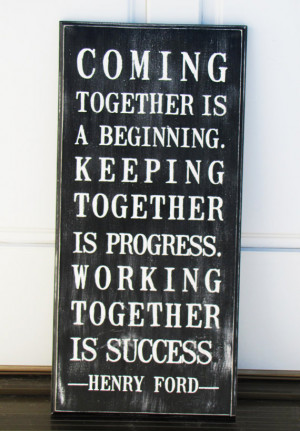 Painted Together wooden black and white quote sign (11 x 24 and ready ...