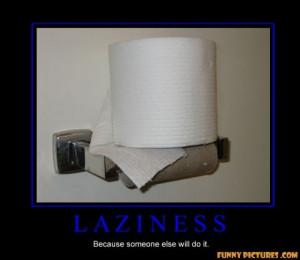 toilet paper laziness