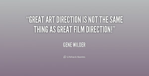 Great art direction is NOT the same thing as great film direction ...