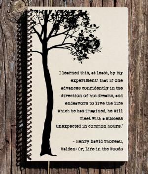 Motivational Quote - Henry David Thoreau Quote - Follow Your Dreams ...