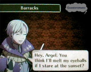 "... my eyeballs if I stare at thesunset?""–Henry, Fire Emblem Awakening"